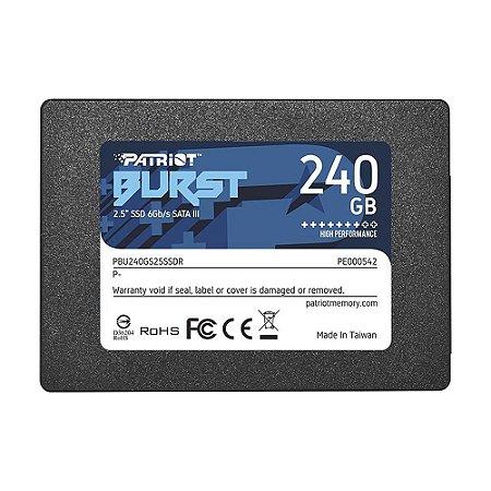 "SSD Patriot Burst 2.5"" 240GB SATA III - PC"