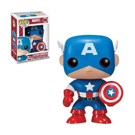 Boneco Captain America 06 Marvel - Funko Pop!