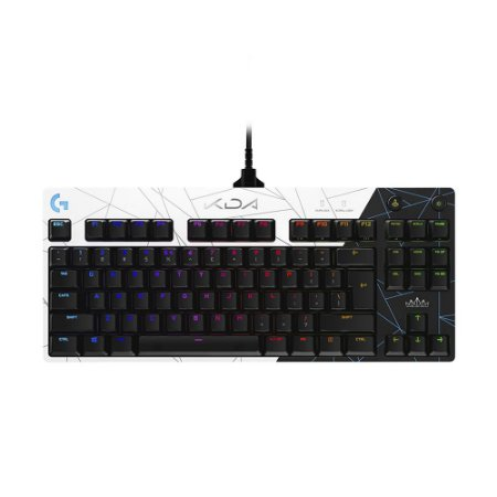 Teclado Mecânico Gamer Logitech PRO K/DA Edition RGB Switch GX Brown US com fio