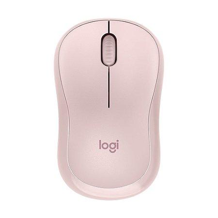 Mouse Sem Fio Logitech M220 Silent Rosa 1.000 DPI