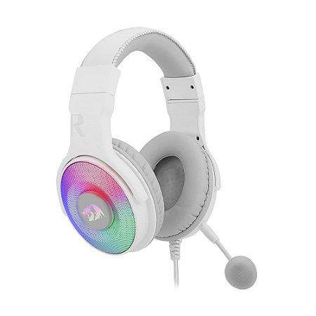 Headset Gamer Redragon Pandora 2 Lunar White RGB H350W-RGB-1 com fio - PC