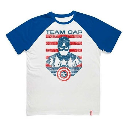Camiseta Studio Geek Guerra Civil Time Capitão Marvel - Modelo 2