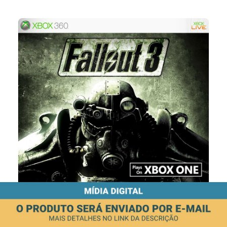 Jogo Fallout 3 (Mídia Digital) - Xbox 360 e Xbox One