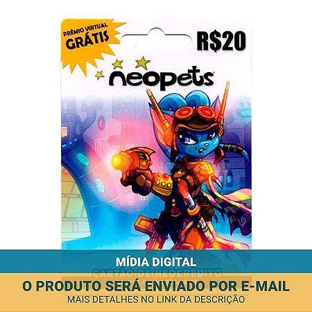 Cartão Presente Neopets R$20