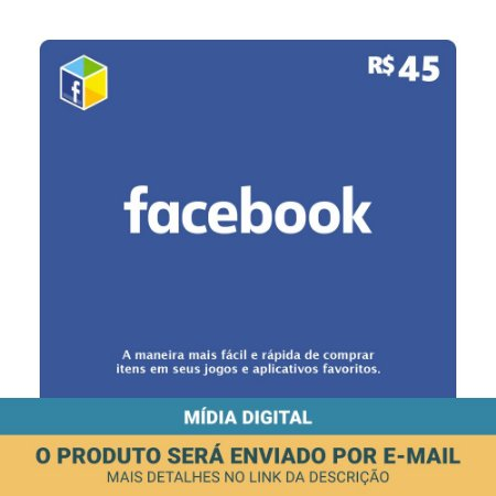 Cartão Presente Facebook R$45