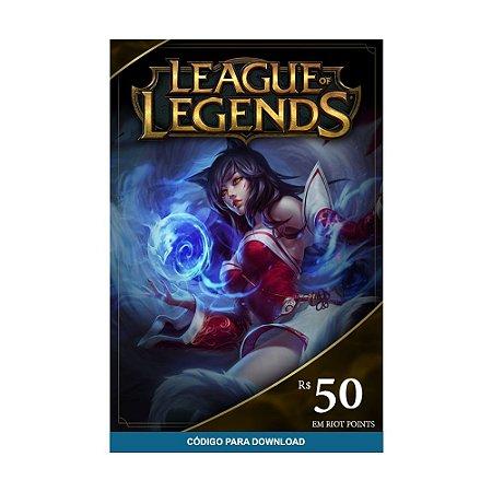 Cartão Presente RP League of Legends R$50
