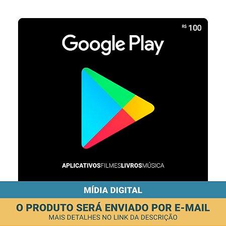 Cartão Presente Google Play R$100