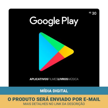 Cartão Presente Google Play R$30