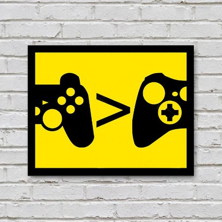 Placa de Parede Decorativa: PlayStation > Xbox - ShopB