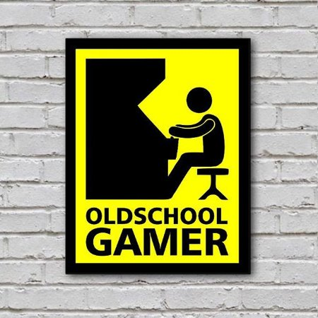 Placa de Parede Decorativa: Old School Gamer - ShopB