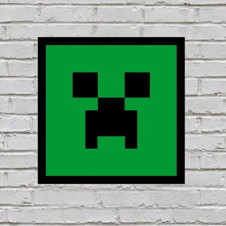 Placa de Parede Decorativa: Creeper Face - ShopB