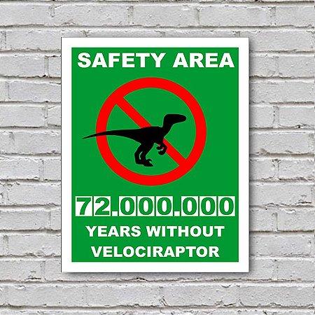 Placa de Parede Decorativa: Velociraptor - ShopB