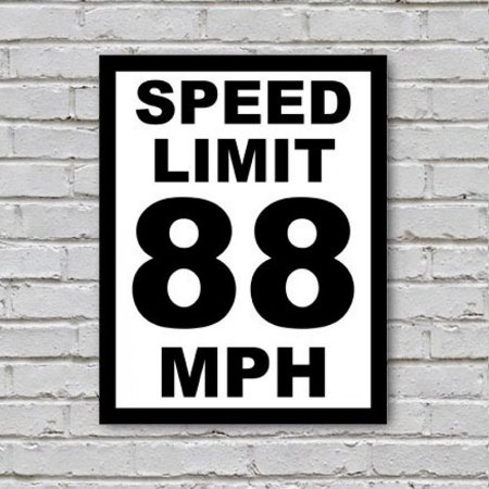 Placa de Parede Decorativa: Speed Limit - ShopB