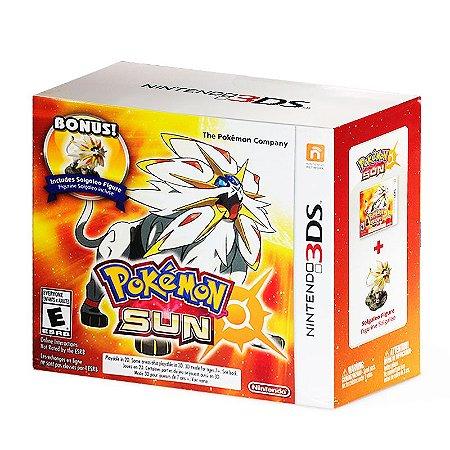 Jogo Pokémon Sun + Solgaleo Figure - 3DS