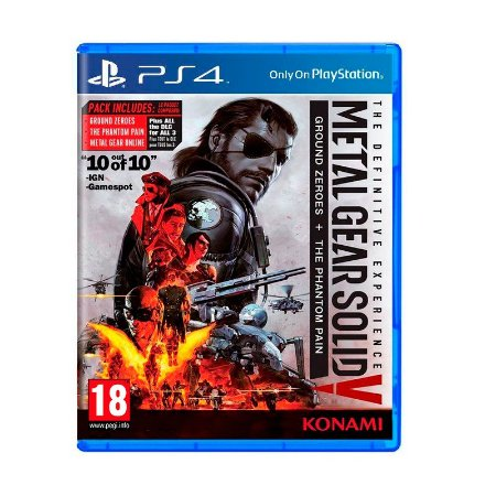 Jogo Metal Gear Solid V The Definitive Experience: Ground Zeroes + The Phantom Pain - PS4