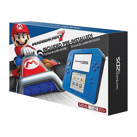 Console Nintendo 2DS Azul Elétrico + Mario Kart 7 - Nintendo