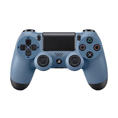 Controle Sony Dualshock 4 Grey Blue sem fio - PS4