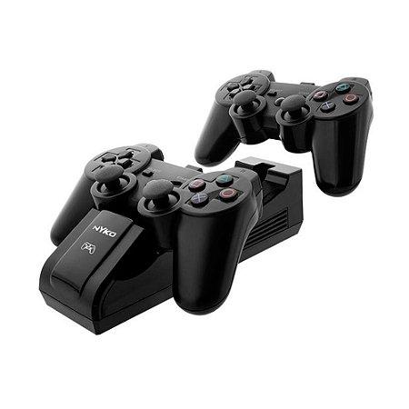 Carregador Duplo Nyko e Baterias Recarregáveis - PS3