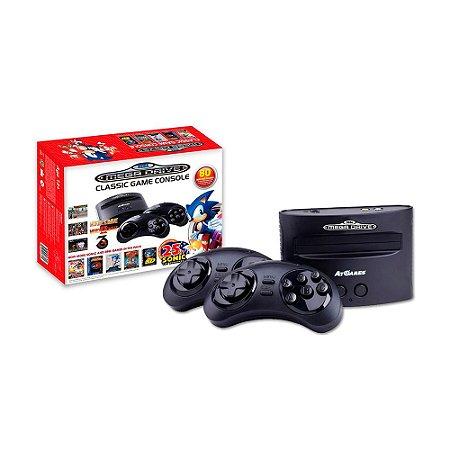 Console Sega Genesis Classic Game Mega Drive + 80 Jogos