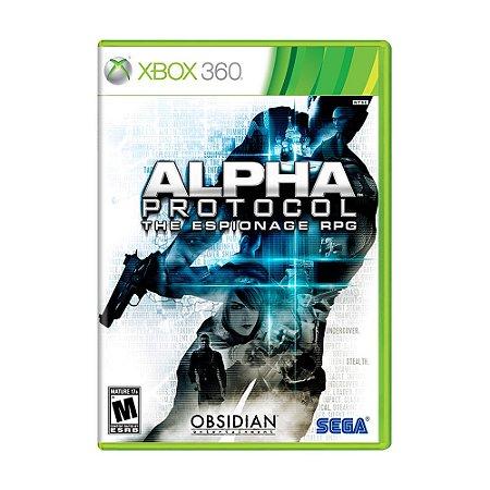 Jogo Alpha Protocol: The Espionage RPG - Xbox 360