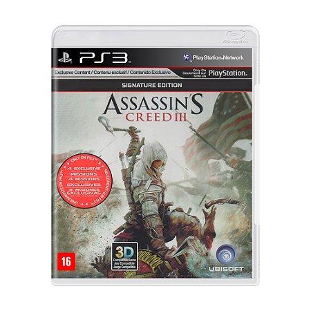 Jogo Assassin's Creed III (Signature Edition) - PS3