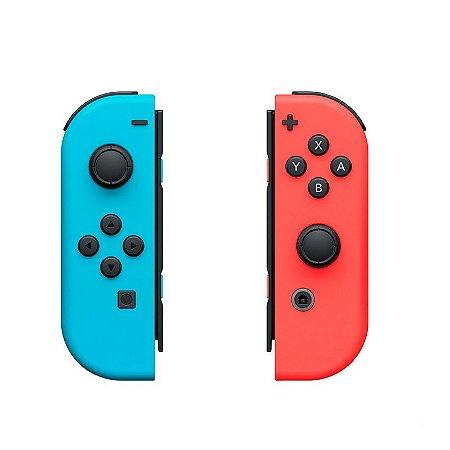 Controle Nintendo Joy-Con (Esquerdo e Direito) Vermelho/Azul - Switch