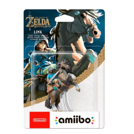 Nintendo Amiibo: Link (Rider) - The Legend of Zelda: Breath of the Wild - Wii U e New Nintendo 3DS