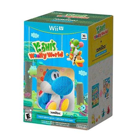Bundle Yoshi's Woolly World + Amiibo Blue Yarn Yoshi - Wii U