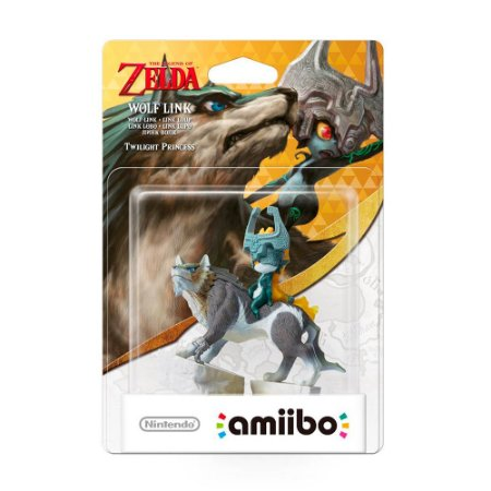 Nintendo Amiibo: Wolf Link - The Legend of Zelda - Wii U e New Nintendo 3DS