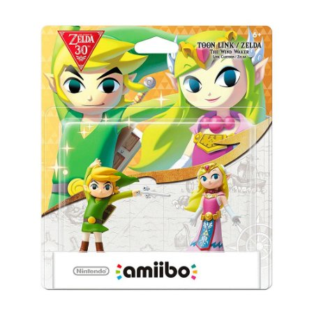 Nintendo Amiibo: Toon Link + Zelda - The Legend of Zelda 30th - Wii U e New Nintendo 3DS