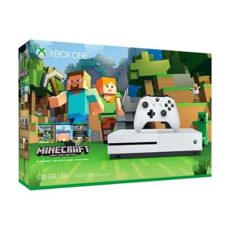 Console Xbox One S 500GB + Minecraft - Microsoft