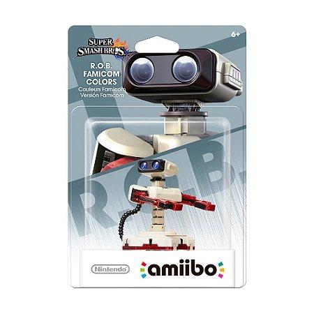 Nintendo Amiibo: R.O.B. Famicom Colors - Super Smash Bros. - Wii U e New Nintendo 3DS
