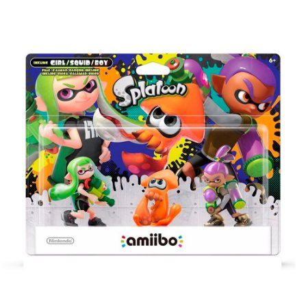 Nintendo Amiibo: Girl, Squid e Boy - Splatoon - Wii U e New Nintendo 3DS