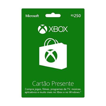 Cartão Presente R$250 Xbox Live Brasil - Microsoft