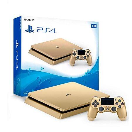 Console PlayStation 4 Slim 1TB Dourado - Sony