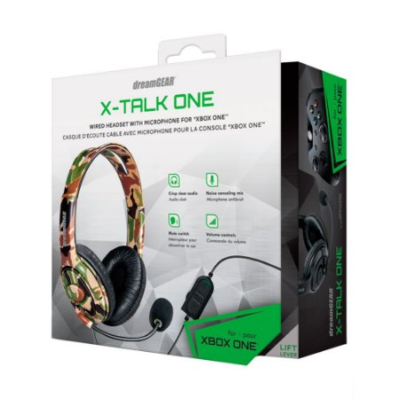 Headset DreamGEAR X-Talk One Camuflado com Fio - Xbox One e PS4