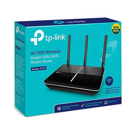 Modem Roteador Tp-link AC1600 Wireless Gigabit VDSL/ADSL Archer VR600