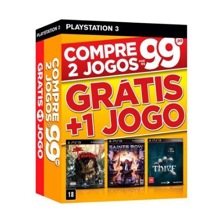 Jogo Dead Island Riptide + Saints Row IV + Thief - PS3