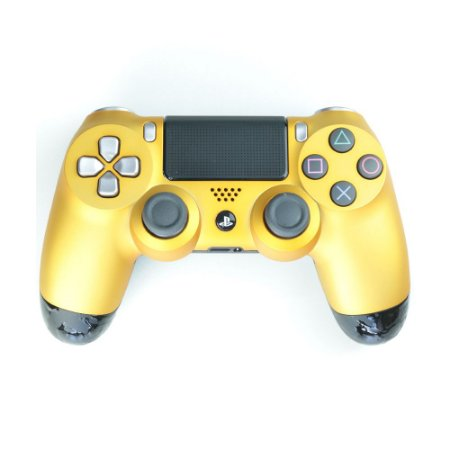 Controle Dualshock 4 GG Metal Amarelo sem fio - Casual - PS4