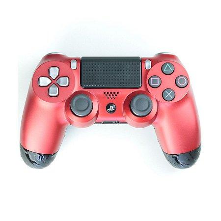 Controle Dualshock 4 GG Metal Vermelho sem fio - Casual - PS4