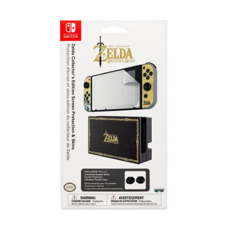 Kit Protetor de Tela e Skins PDP (Zelda Collector's Edition) - Switch