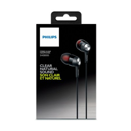 Fone de Ouvido Intra-Auricular Philips SHE8000 In-Ear Stereo com fio