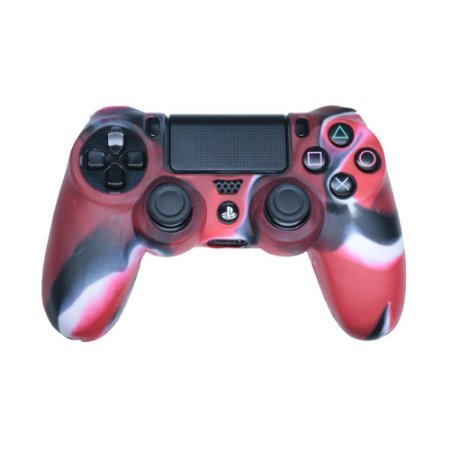Capa de Silicone Camuflagem Vermelha para Controle Dualshock 4 - PS4