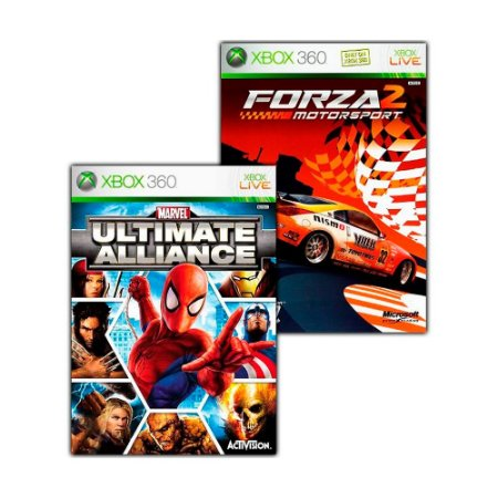 Jogo Marvel: Ultimate Alliance + Forza Motorsport 2 - Xbox 360