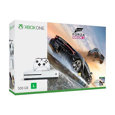 Console Xbox One S 500GB + Forza Horizon 3 - Microsoft