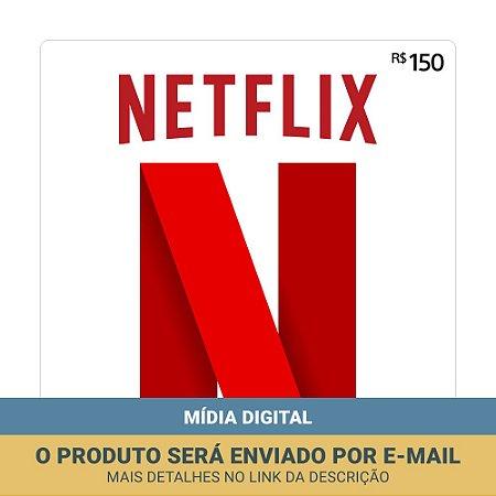 Cartão Presente Netflix Brasil R$150