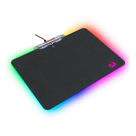 Mousepad Gamer RGB Kylin (P008) Médio Speed Rígido - Redragon
