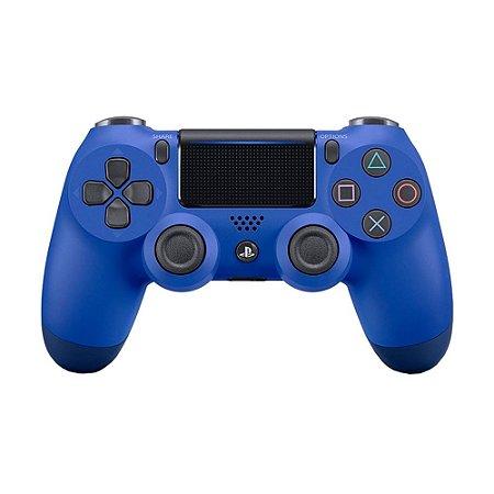 Controle Sony Dualshock 4 Azul sem fio (Com led frontal) - PS4