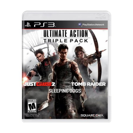 Jogo Ultimate Action Triple Pack: Just Cause 2 + Sleeping Dogs + Tomb Raider - PS3
