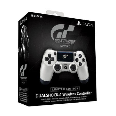 Controle Sony Dualshock 4 Gran Turismo Sport Limited Edition sem fio (Com led frontal) - PS4